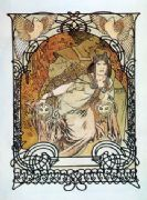 Vintage Art Deco Poster by Mucha